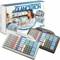 Glancetron Keyboard 8031, Num., MKL, RS232, PS/2, Kit, weiß